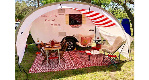 Girl Camping! It's a thing!