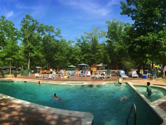 Cool off in the pool at Atlantic Shore Pines Campground