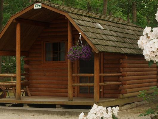 Cabin rentals available at Atlantic Shore Pines Pines Campground