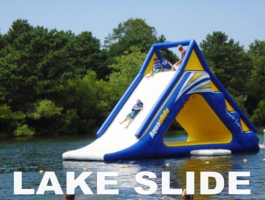 Enjoy the Lake Slide at Beachcomber Camping Resort