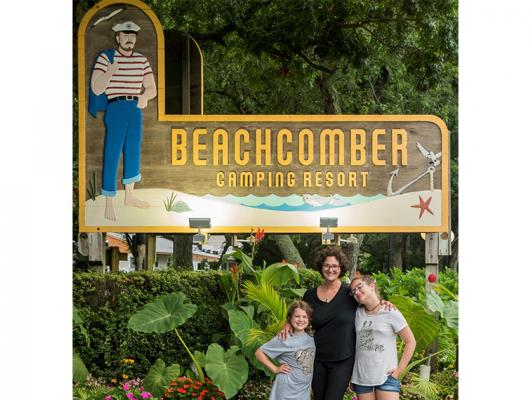 Family camping is always fun at Beachcomber Camping Resort