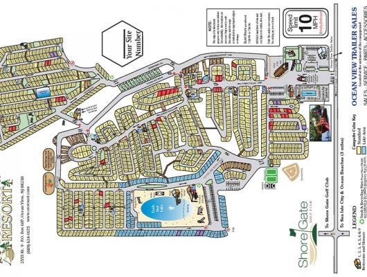 Site Map for Ocean View Resort