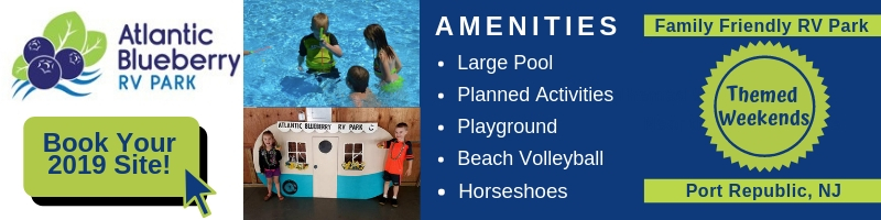Atlantic Blueberry RV Park offers family fun in Southern New Jersey.